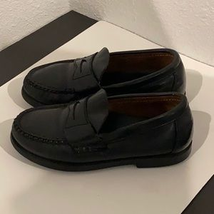 Auth Sperry toddler black leather loafers 11.5